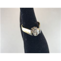 18K YELLOW GOLD OVAL CUT DIAMOND LADIES RING - RP. $9,100.00