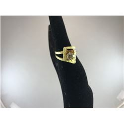 18K YELLOW GOLD LADIES RING BRILLIANT CUT DIAMOND APPROX WEIGHT 0.98KT - RP $7,750.00