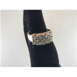 14K YELLOW GOLD LADIES RING 32 BAGUETTE (7 STONES MISSING) - RP $1,275.00