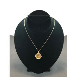 "10K YELLOW GOLD CHAIN 20"" WITH LOCKET - RP $375.00"