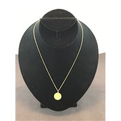 "10K YELLOW GOLD CHAIN 18"" WITH GOLD COIN PENDANT - RP $350.00"