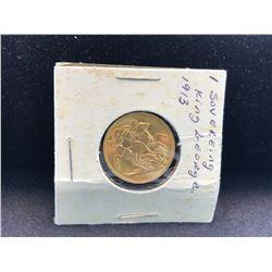 1913 GOLD SOVEREIGN COIN - RP $370.00