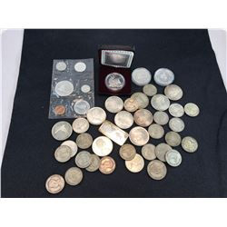 CANADIAN, US AND WORLD SILVER COINS & BAR