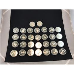 1988 OLYMPIC SILVER COINS - RP $540.00