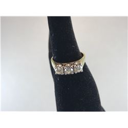18K YELLOW GOLD WITH 3 BRILLIANT CUT DIAMONDS - RP $3,900.00