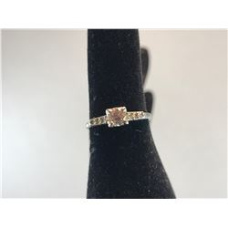 18K WHITE GOLD LADIES RING 1 OLDER EUROPEAN CUT DIAMOND & 6 SINGLE CUT DIAMONDS - RP $1,450.00