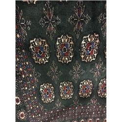 """BOKHARA WOOL 8'3"""" X 5'6"""" GREEN, WHITE, RED HAND WOVEN PERSIAN AREA RUG"""