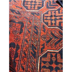 """SERAPI WOOL 9'7"""" X 6'6"""" RED, BLUE, GOLD HAND WOVEN PERSIAN AREA RUG"""