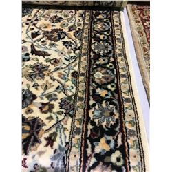 """TABRIZ WOOL 10'2"""" X 2'6"""" RED, TURQUOISE, CREAM HAND WOVEN PERSIAN AREA RUG"""