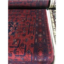"""SERAPI  WOOL 9'5"""" X 2'6"""" RED, BLACK, GOLD HAND WOVEN PERSIAN AREA RUG"""
