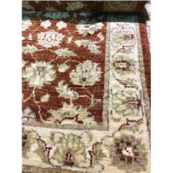 """SARUGH ANTIQUE FINISH WOOL 6'1"""" X 2'7"""" RED, BEIGE, CREAM HAND WOVEN PERSIAN AREA RUG"""