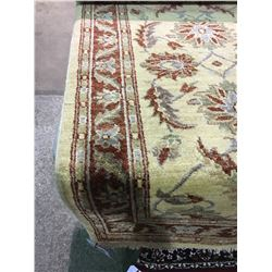 "SAURGH ANTIQUE FINISH WOOL 10'1"" X 2'7"" RED, BEIGE, GREY HAND WOVEN PERSIAN AREA RUG"