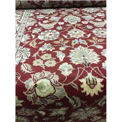 "TABRIZ WOOL 6'8"" X 2'7"" RED, BEIGE, GOLD HAND WOVEN PERSIAN AREA RUG"