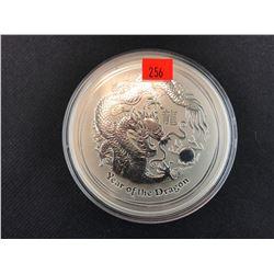 YEAR OF THE DRAGON 10 OUNCE .999 SILVER 2012 AUSTRALIA 10 DOLLAR COLLECTOR COIN