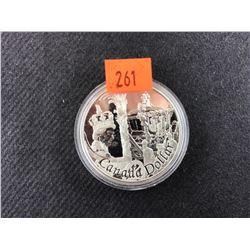ELIZABETH II 1 OUNCE FINE SILVER 1952 - 2002 CANADA DOLLAR COLLECTOR COIN