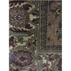 ORIENTAL SUPPER WOOL 8'X5' BEIGE, BROWN, RED HAND WOVEN PERSIAN AREA RUG