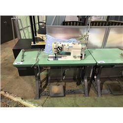 JUKI MODEL LH-3168 TWO HEAD INDUSTRIAL SEWING MACHINE