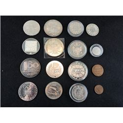BAG OF ASSORTED COLLECTOR COINS