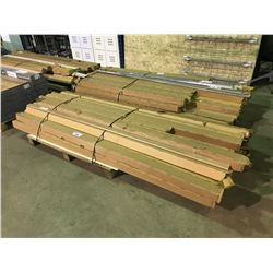 PALLET OF ASSORTED STAIR NOSE AND MOLDINGS