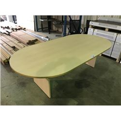 8' X 4' MAPLE RACE TRACK BOARD ROOM TABLE
