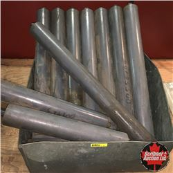 Galvanized Box w/Contents (21 Rollers - Various Sizes)