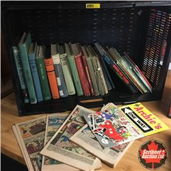 Collapsible Crate w/Contents (Books & Comics)