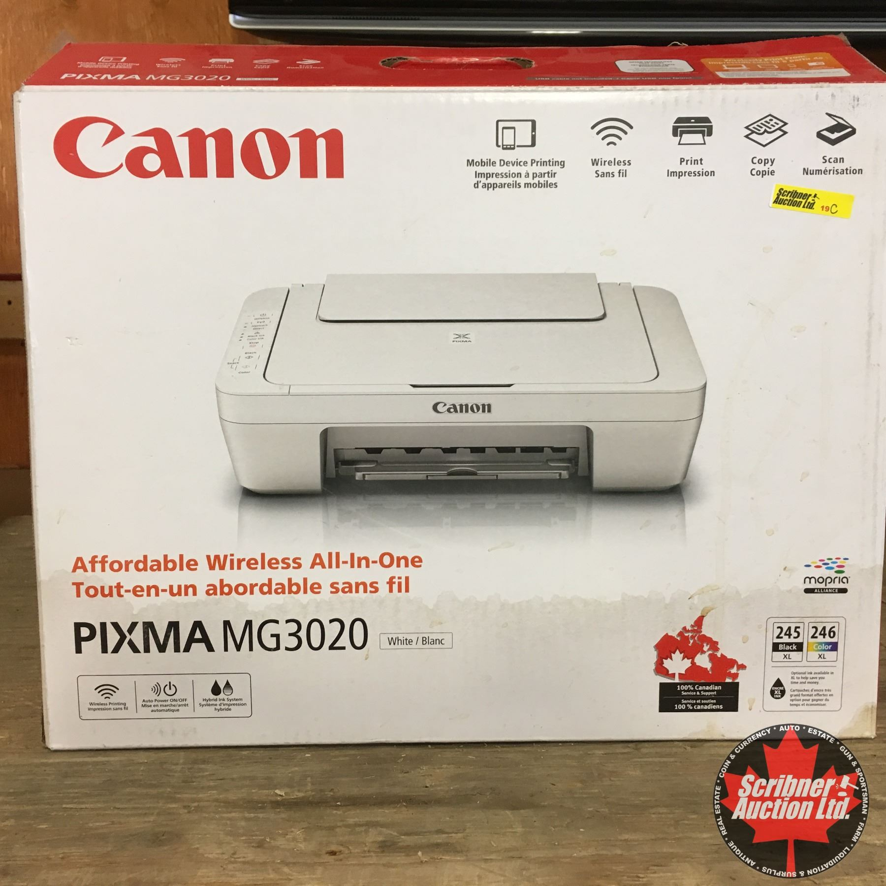 Wireless Canon All-In-One Printer/Copier/Scanner (Never Used)