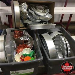 Shelf Lot: Variety of Regular & Decorative Cake Pans / Moulds