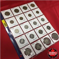 Canada Coins - Sheet of 20: Large Cent (1892; 1910; 1916; 1919) Small Cent (1935; 1943; 1951; 1969)