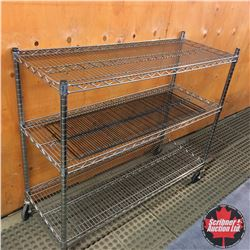 Stainless Steel Rolling Shelving (3 Tier)