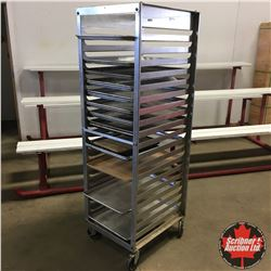 "Rolling Stainless Steel ""Seco"" Commercial Tray Rack"