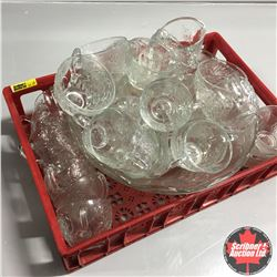 Punch Bowl Set w/Coca-Cola Bottle Carrier Tray
