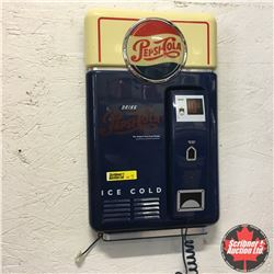 Retro Pepsi-Cola Wall Phone - Push Button