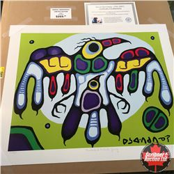 "CHOICE OF 10: Limited Edition Print : ""Thunderbird Protects Young"" Norval Morrisseau 88/99"