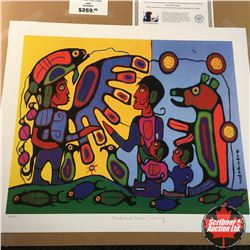 "CHOICE OF 10: Limited Edition Print : ""Thunderbird Shaman Teaching"" Norval Morrisseau 344/950"