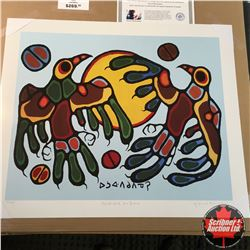 "CHOICE OF 10: Limited Edition Print : ""Thunderbird Sundance"" Norval Morrisseau 87/99"