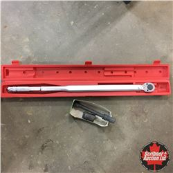 "Procore 3/4"" Drive Torque Wrench from 100 - 600 Ft Pounds (with Westward Impact Extension & 7/8"" Imp"