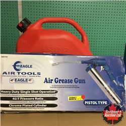 CHOICE OF 3: Combo: Eagle Air Grease Gun + Jerry Can