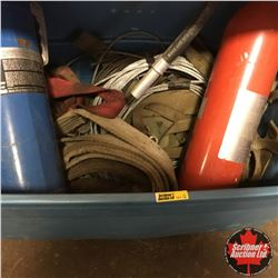 Tote Lot: Cable, Tow Straps & 2 Fire Extinguishers