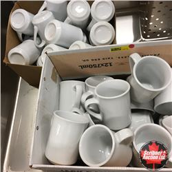 Box Lots: 40 White Coffee Cups (Dinerware)