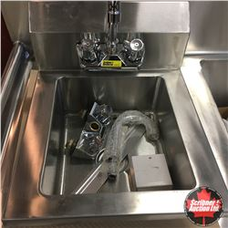 "Stainless Steel Bar Sink 14"" Wide w/Extra Faucet"