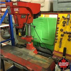 IDL Model 550 Milling Machine on Stand w/Tooling Organizer