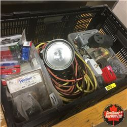 Collapsible Crate w/Contents (Electrical Supplies)