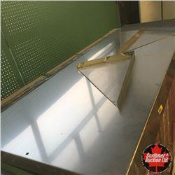 """Stainless Steel Shelf w/Brackets (Never Used) 63"""" x 21"""""""