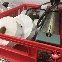 Package Heat Sealer + Tape & Dispenser + Ink Label System
