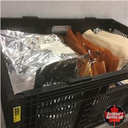 Collapsible Crate w/Contents (Sausage Casings, Spices, etc)