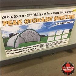 20FT X 30FT X 12FT Peak Ceiling Storage Shelter
