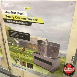CHOICE OF 2:  Stainless Steel Chicken/Turkey Plucker w/Bottom and Wheels