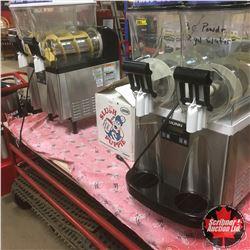 BUNN Slushie Machines (2) + 3 Jugs of Flavor Mix