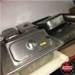 Tray Lots: Stainless Steel Chafing Dishes & Lids